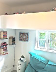kids loft bed white bespoke