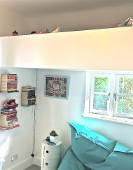 kids loft bed white bespoke