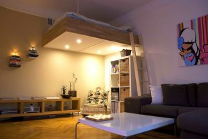 adult loft bed bespoke wood lights best design 2016