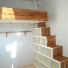 loft beds box room wood ladder storage