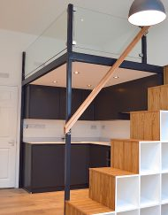 space saving bespoke mezzanine loft