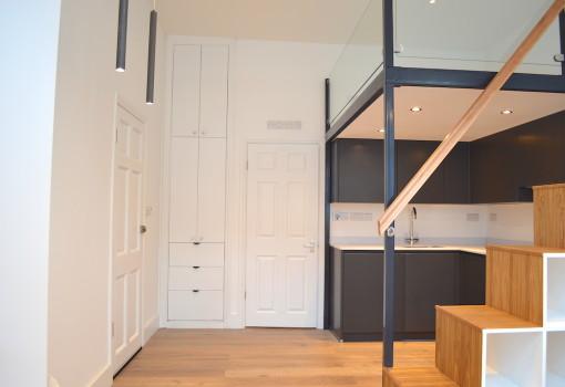 mezzanine loft with bespoke storage