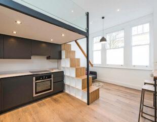 Contemporary mezzanine loft