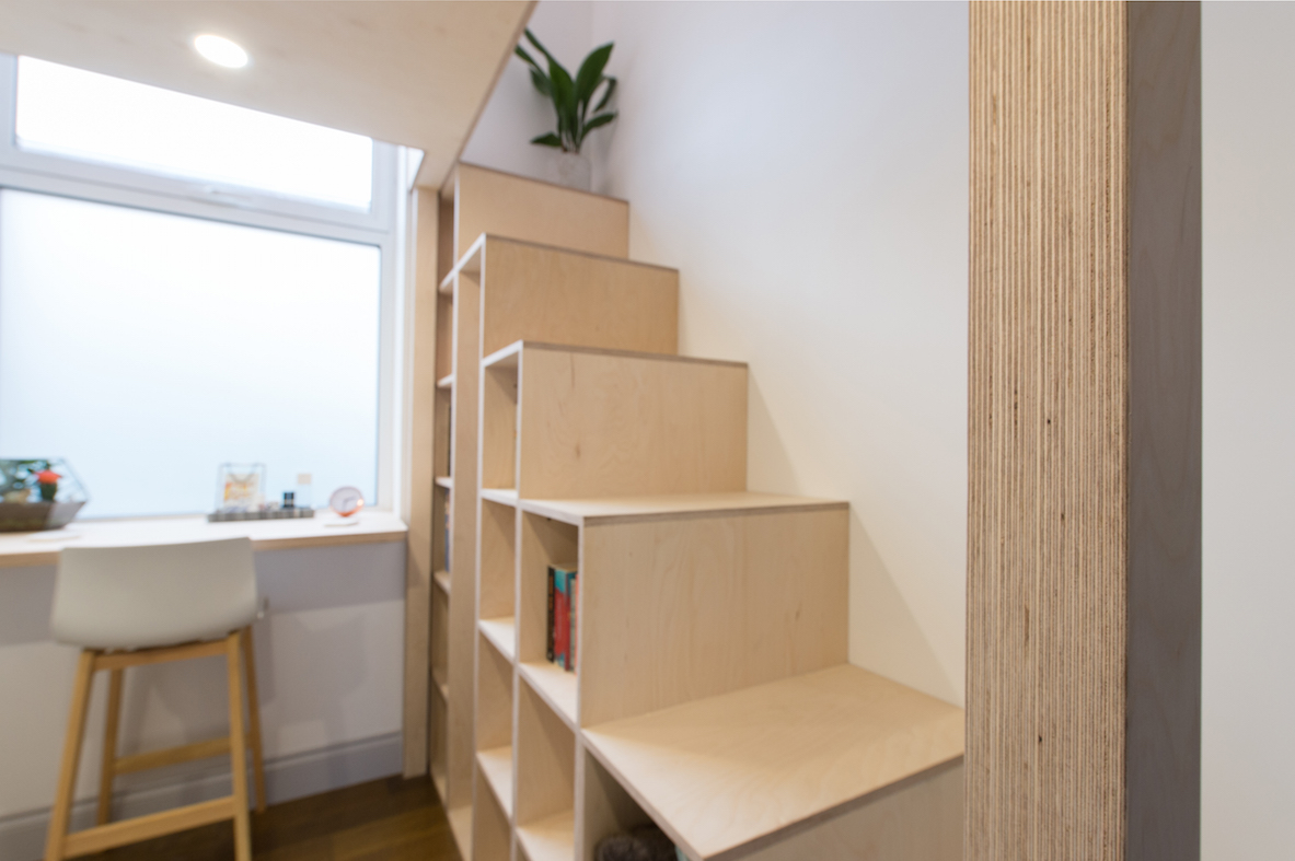 Mezzanine Lofts Bespoke Stairs Storage Birch Ply Scandinavian