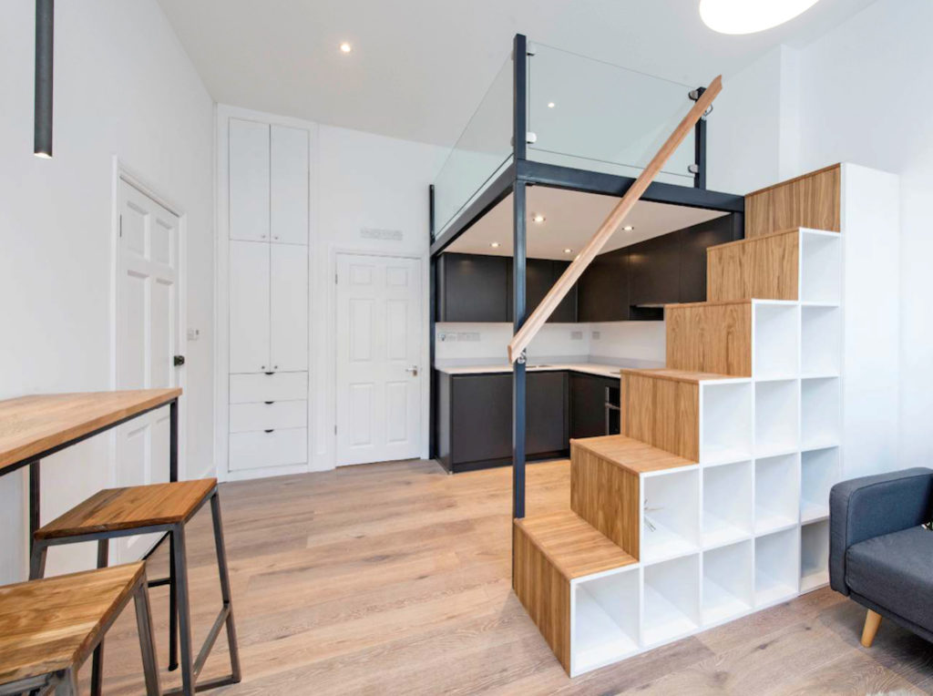 Remodelling of studio flat in Clapham, London - Scandinavian Loft